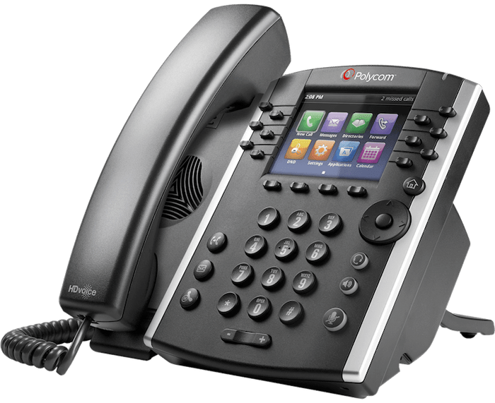 POLYCOM VVX 410 4-LINE IP PHONE